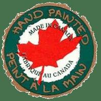 Peint à la main au Canada Hand Painted