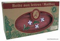 Boîte aux lettres en bois peint à la main série 2031 emballage