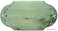 Plaque d'adresse 18 pouces en bois teint et peint à la main