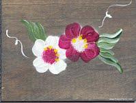 boîte à épingle à linge en bois teint et peint à la main