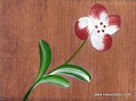 boîte à fleurs en bois teint et peint à la main