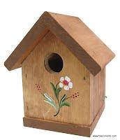 nichoir en bois pour hirondelle bicolore