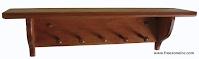 tablette décorative teint et verni