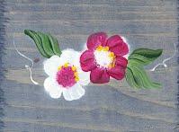 boite aux lettres horizontale en bois teint et peint à la main