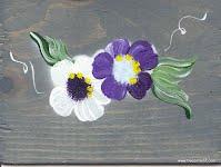 boite aux lettres rural en bois teint et peint à la main