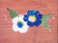 plaque d'adresse en bois teint et peint à la main