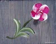 Boite à fleur en bois teint et peint à la main